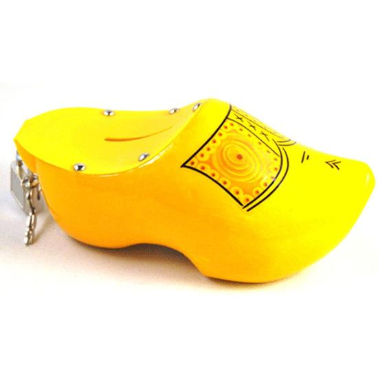 Gele klomp spaarpot 16 cm