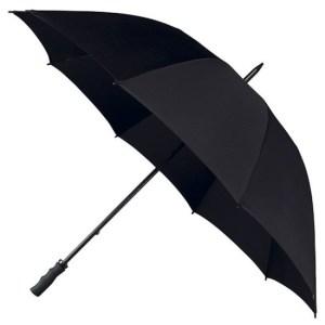 Golf stormparaplu zwart windproof 130 cm