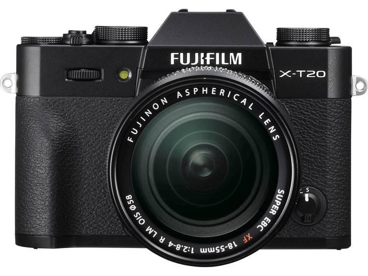 Systeemcamera Fujifilm X-T20 Incl. XF 18-55 mm 24.3 Mpix Zwart 4K Video, Full-HD video-opname, Elektronische zoeker, WiFi