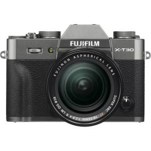 Systeemcamera Fujifilm X-T30 XF18-55 mm 26.1 Mpix Antraciet Touch-screen, Elektronische zoeker, Klapbaar display, WiFi, Flitsschoen, Bluetooth