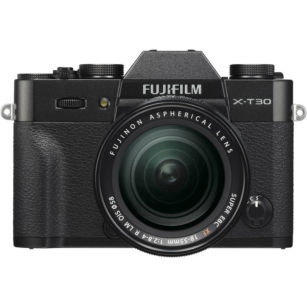 Systeemcamera Fujifilm X-T30 XF18-55 mm 26.1 Mpix Zwart Touch-screen, Elektronische zoeker, Klapbaar display, WiFi, Flitsschoen, Bluetooth