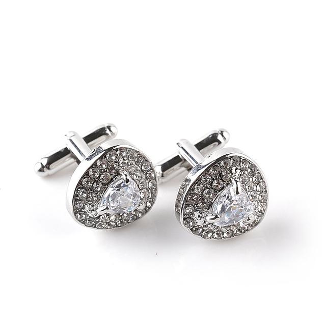 Populaire Manchetknopen aristocratische diamanten holle cufflinks(White)