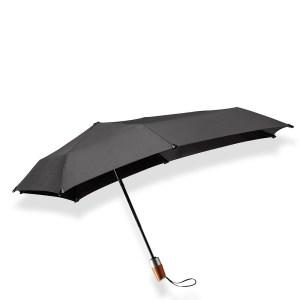 Senz Mini Automatic Deluxe Foldable Paraplu Pure Black