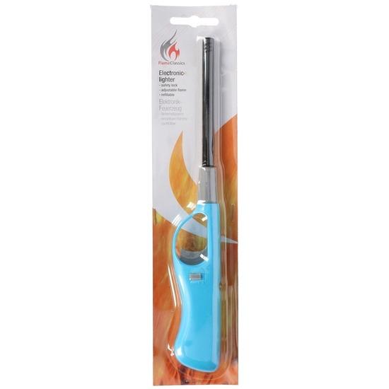 BBQ aansteker navulbaar lichtblauw 26 cm