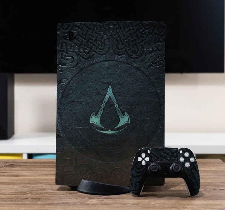 PS5 sticker Assassin's creed valhalla-logo
