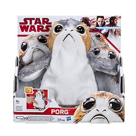 Porg star wars 8 peluche interactive