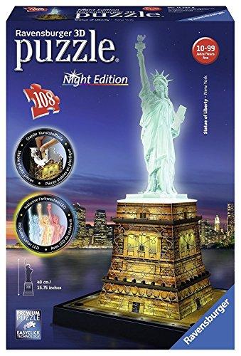 Ravensburger--Puzzle-3D-108-pices--Statue-de-la-Libert--Edition-nocture-0