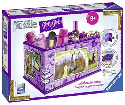 Ravensburger-12072-Puzzle-3D-Girly-Girl-Bote-de-Rangement-Chevaux-0