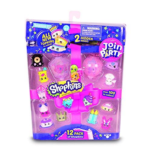 Shopkins – HPK82 – SK7 PARTY – Blister 12 pack – 12 Shopkins + 2 Lanternes  -Modèle Aléatoire