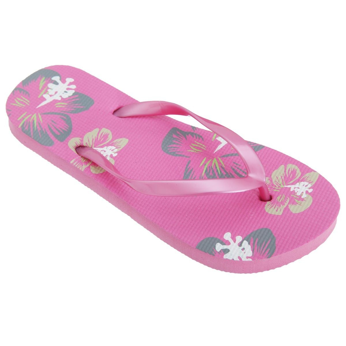 tongs rose hawaienne