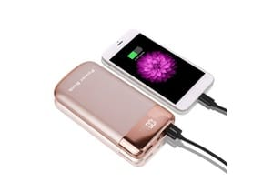 Batterie portable telephone chargeur rose