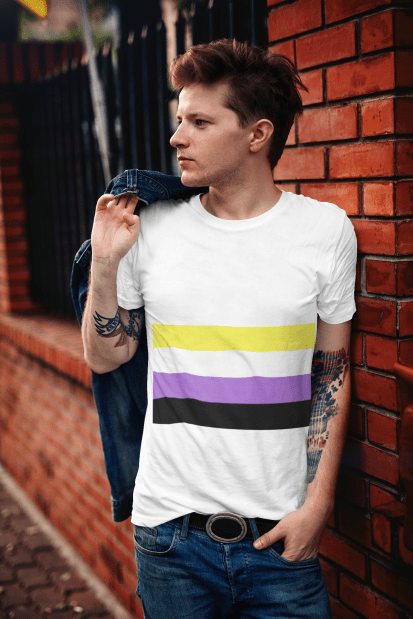 Nonbinary Pride Flag T-Shirt