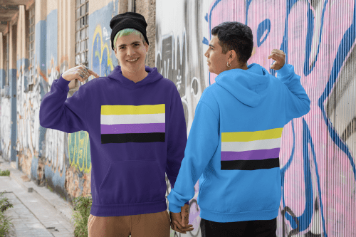 Nonbinary pride flag shirts