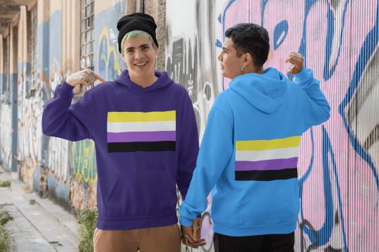 Nonbinary pride flag shirts