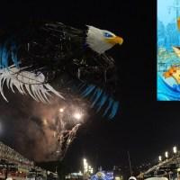 Em 2014 a Águia Portelense Voou na Avenida... Valeu Azul e Branco!