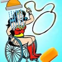 Cadeirante no Banho! Ih! E Como Pegar o Sabonete Caído no Chão?