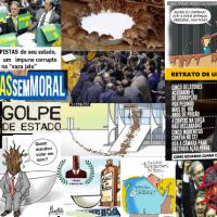 """Hipócritas! Travestiram-se de Santos pro Golpe de Estado para Continuarem """"Mamando"""" Impunemente!"""