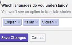Language List with Sicilian