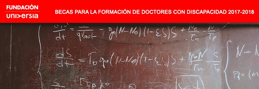 Fundación Universia y el Santander, becas de doctorado para estudiantes con discapacidad