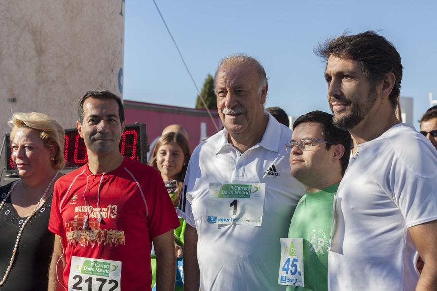Vicente del Bosque, padrino de la VIII edición de la Carrera de Down Madrid
