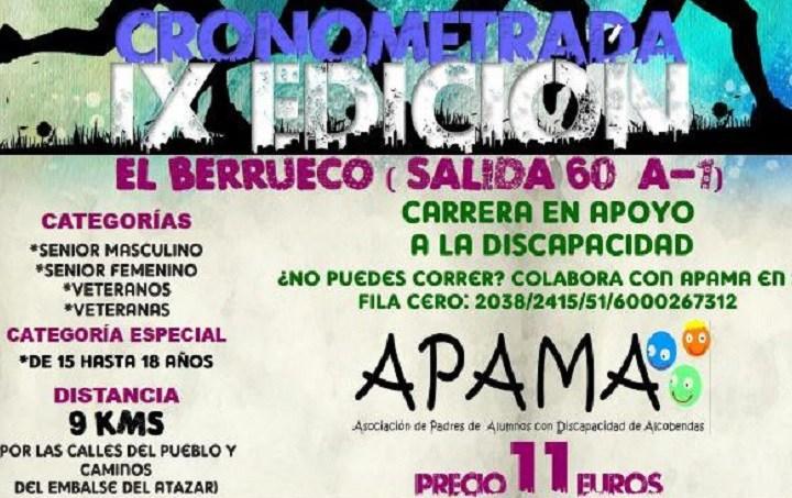 IX Carrera Popular Villa de El Berrueco a favor de APAMA