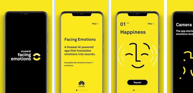 Huawei crea la app Facing Emotions para personas con discapacidad visual