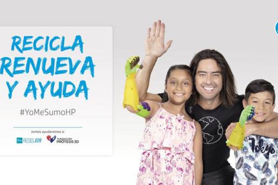 YoMeSumoHP, la campaña social de HP para fabricar prótesis 3D para niños de Fundación Prótesis 3D