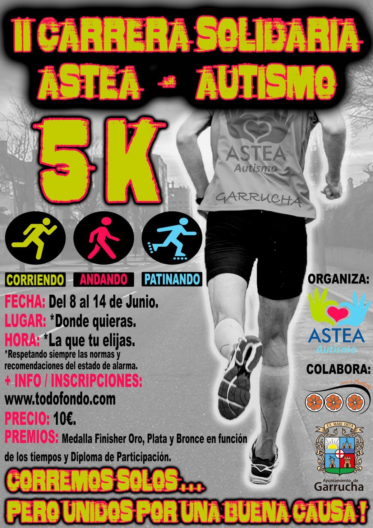 El Ayuntamiento de Garrucha colabora en la carrera solidaria Astea-Autismo que este año será virtual