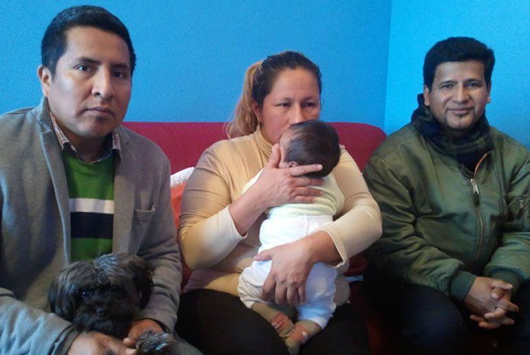 Wilson y su familia después de su desahucio