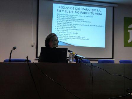 Momento de la charla de María Isabel Garrido