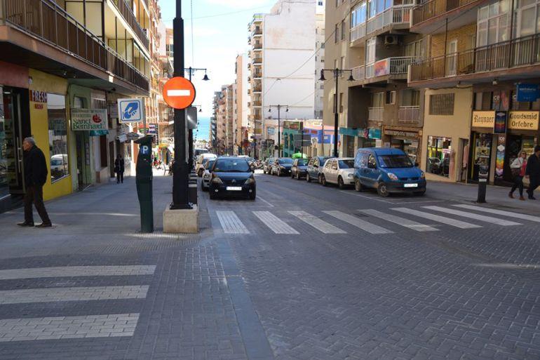 Avenida Gabriel Miró, otro de los viales con zona azul de Calp.