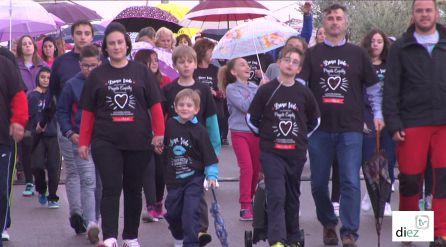 Participantes en la marcha solidaria contra la Hipertension Pulmonar