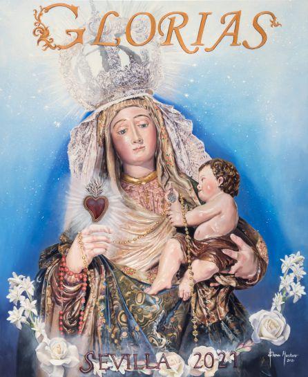 La Virgen del Amparo protagoniza el Cartel de las Glorias 2021, obra de Elena Montero