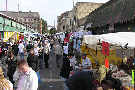 Mercado de the barras en Glasgow