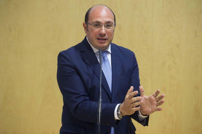El presidente de la Región de Murcia Pedro Antonio Sánchez