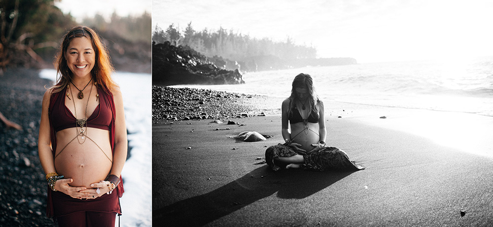 jinju and nova's maternity session with cadencia photography on the big island