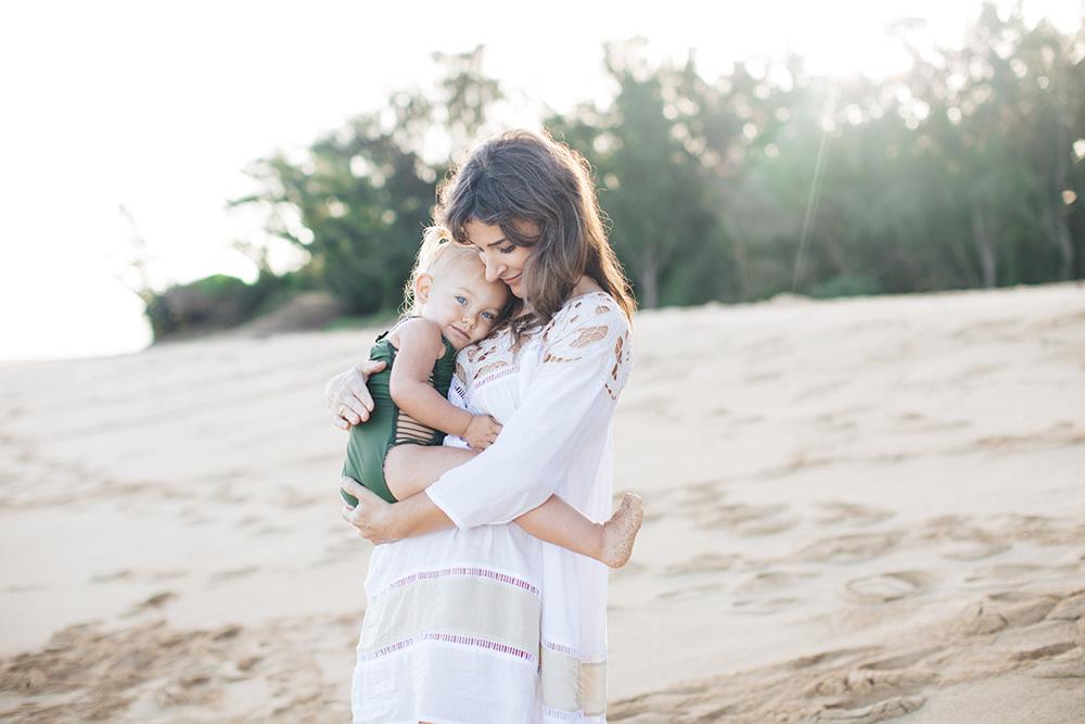 maui family photographer captures melissa for tropical moms, a photography series on Maui motherhood