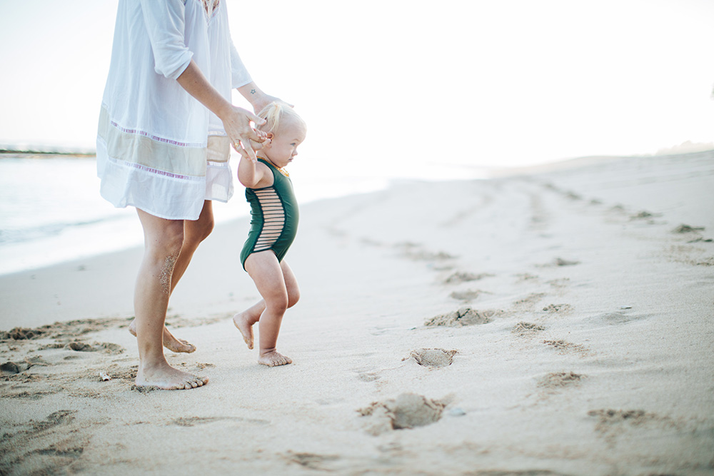 esme wearing acacia baby swimwear during tropical moms, a photography series on Maui motherhood