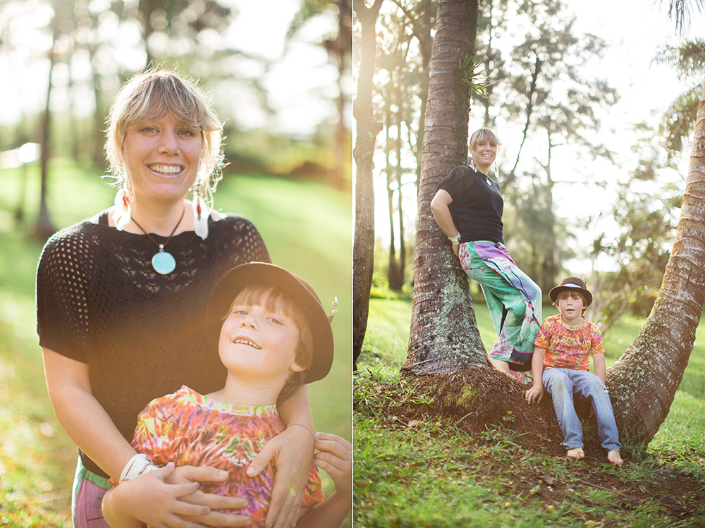 kate of maui mama magazine and her son in haiku, maui.