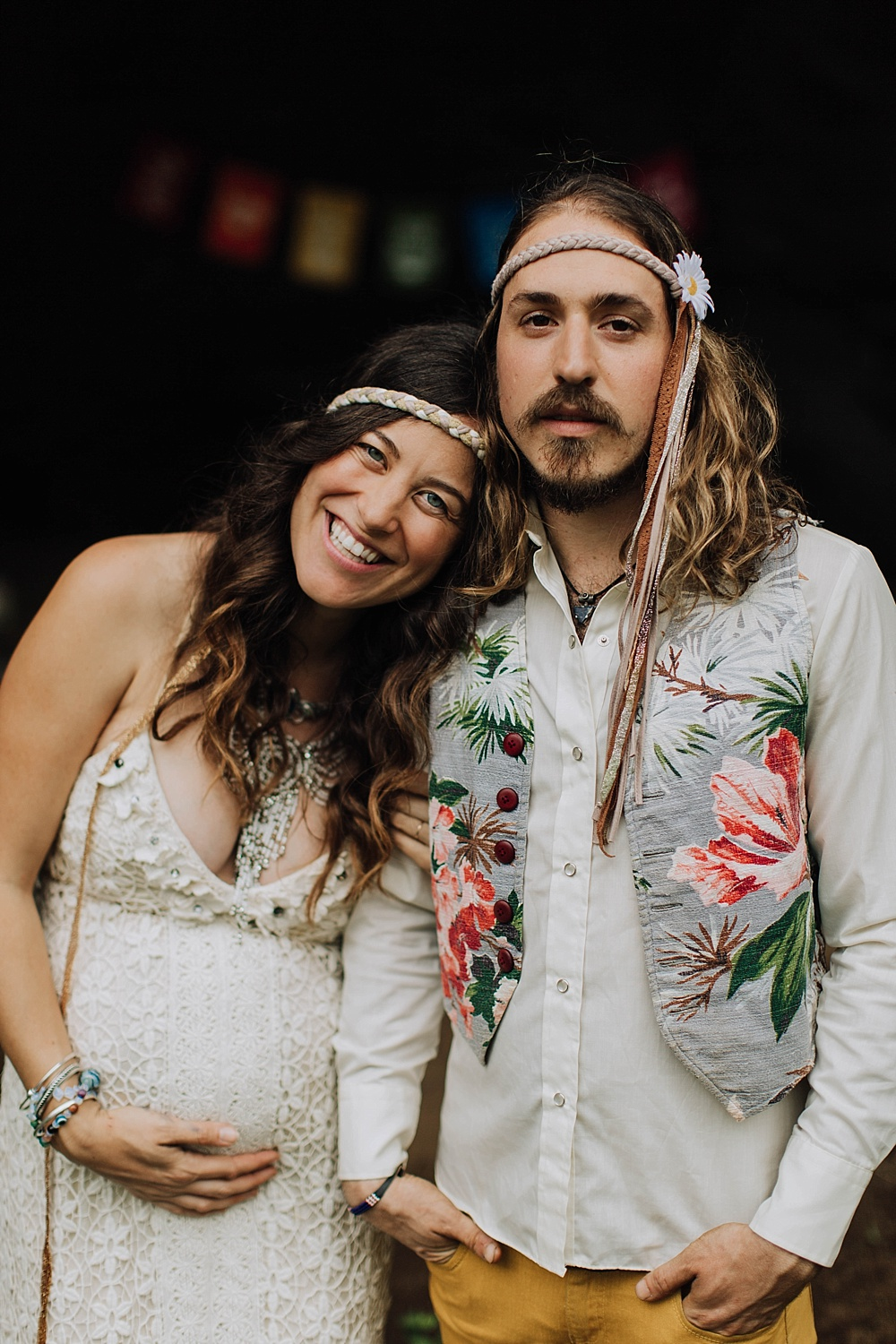 maui engagement, couples, and wedding photographer cadencia photography photographs gypsy halos hippie wedding in maui, hawaii.