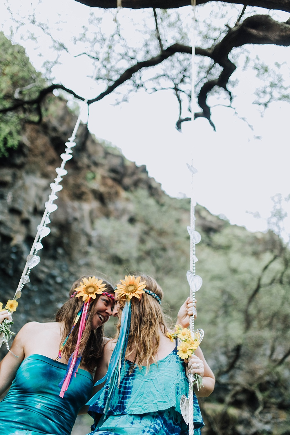 hippie wedding hawaii - gypsy halos