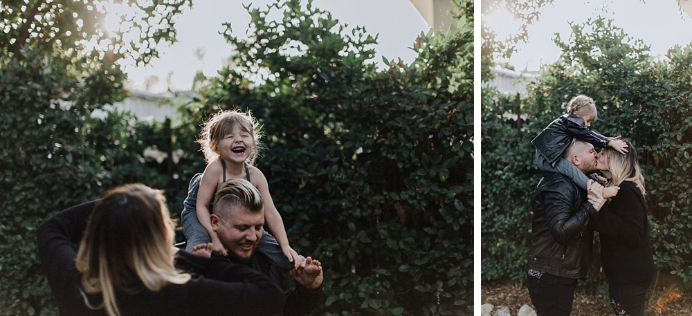 dad and daughter during LA family photographer session.