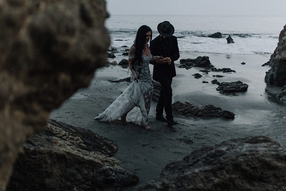 stunning elopement at el matador beach