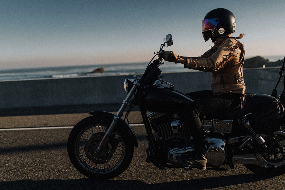 womens motorcyclist in LA