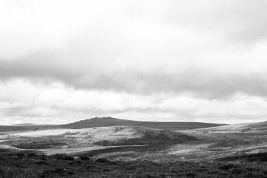 Dartmoor Landscape 1 Black and White