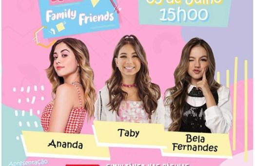 Taby participa da Live Solidária Family Friends com Ananda e Bela Fernandes neste domingo