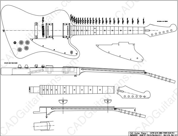 Firebird Studio Electric Guitar Plan Gibson Style