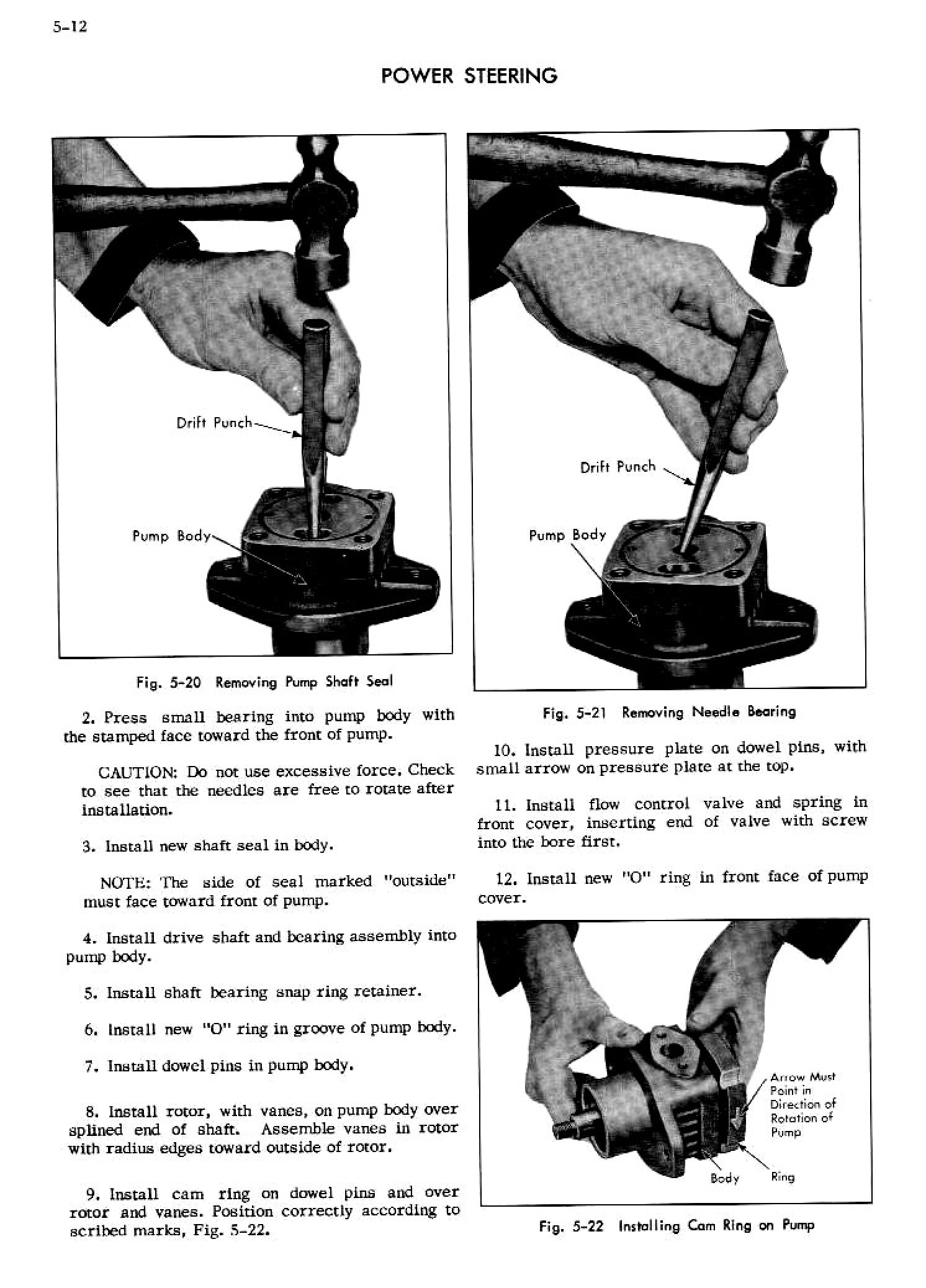 Cadillac Shop Manual Power Steering Page 12 Of 26