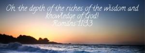Wisdom depths of God