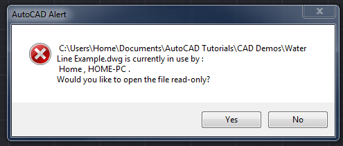 AutoCAD Read Only Error: What's the Problem? | CAD Intentions